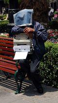 Typewriter man